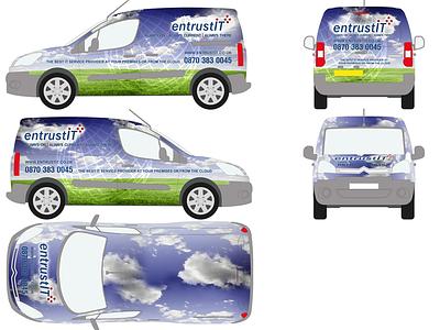 Branding a Citreon Van Wrap van illustrator photoshop wrap brand branding design car truck vector bitmap vehicle