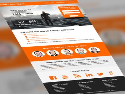 Final web page design web site webdesign social iconic cartoon orange wordpress cms