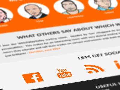 Social media introduced web site webdesign social iconic social media orange facebook youtube wordpress cms