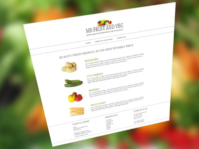 Mr Fruit and Veg bright simple fruity design wordpress website web design clean zesty colour