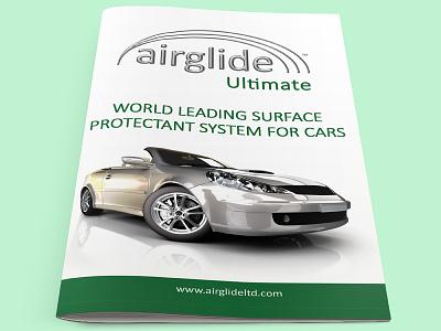 Airglide Leaflet leaflet booklet brochure green vehicle car design branding logo