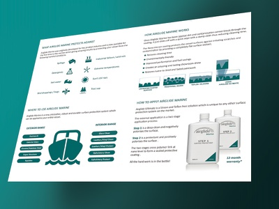 Marine Leaflet marine ocean airglide leaflet design print boat iconic bottles icons brochure
