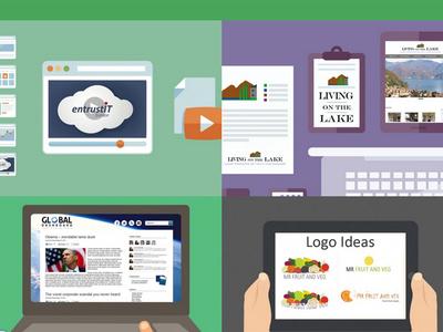 Portfolio portfolio work zanet design website webdesign cartoon responsive layouts logos branding flat