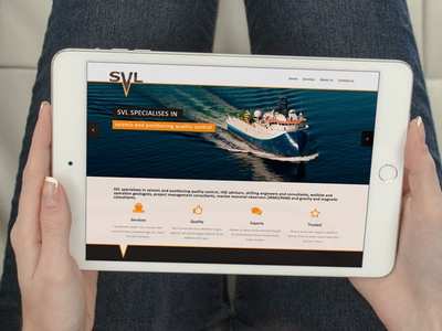 New SVL web site mock photoshop yellow iconic seismic flat icon design devices mobile web svl