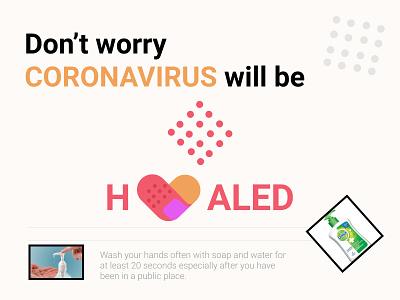 message to the community marketing coronavirus covid19 covid-19 product design dribbbleweeklywarmup branding design inspiration