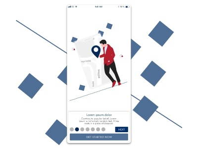 Onboarding Screen 2 onboarding ride sharing app mobile ios android ux ui design inspiration