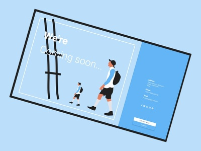Coming Soon identity product design branding illustrator ux vector fresh design ui illustration landing page fresh cool inspiration website design website webdesign web design page coming soon