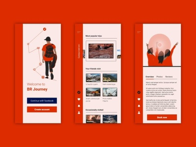 BR Journey fresh design inspiration app journey travel mobile ux mobile ui design ios mobile