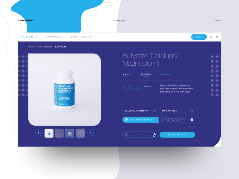 BodyBio (PDP) - Conspire - 02 e-commerce shop shopify theme development medical care supplements pharmaceutical template web design interface ux landing clean ui typography minimal layout