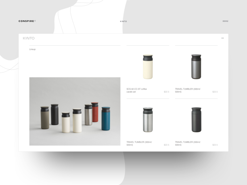 Kinto (Product Landing Page) - Conspire - 02 e-commerce website design ux ui interaction shopify theme