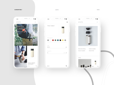 Kinto (Product Landing Page) - Conspire - 03 teaware coffeeware drinkware shopify theme minimal interaction ux ui website design e-commerce