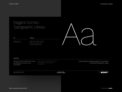 Elegant Combo - Typographic Library - 06 sophisticated elegant branding design clean system sketch library library sketchapp font type combo combination typeface typography