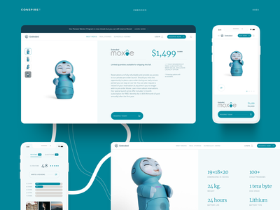 Conspire — Embodied 03 artificial intelligence robot robotics template shopify store ecommerce shop web design interface ux landing clean ui layout minimal
