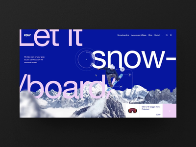 BONT® - Grids Course - Multi-column Grid Example - 01 winter extreme sports apparel store ecommerce shop snowboard concept web design interface ux landing ui typography layout