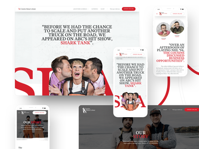 Conspire — Cousins Maine Lobster 01 foodtruck boat sea lobster maine portland fisherman ecommerce template web design interface ux landing clean ui typography layout minimal