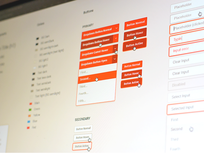 MediaDesk UI Style Guide template modals typography inputs buttons guidelines guide interface ui guide ui style guide ui elements ui design