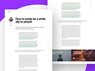 Oceanis (UI Kit) — Sneak Peek 3 typography layout landing page article blog web minimal ux ui kit template