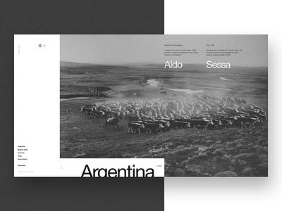 Aldo Sessa - Home (concept) photography layout ux typography minimal swiss web design concept helvetica ui landing page