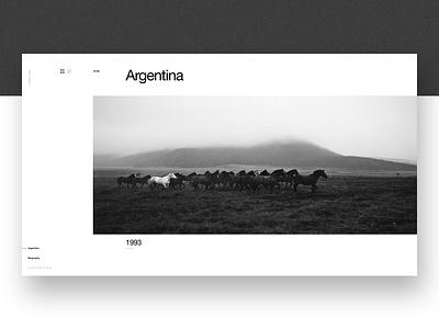 Aldo Sessa - Album 1 (concept) landing page ui helvetica concept web design photography swiss minimal typography ux layout