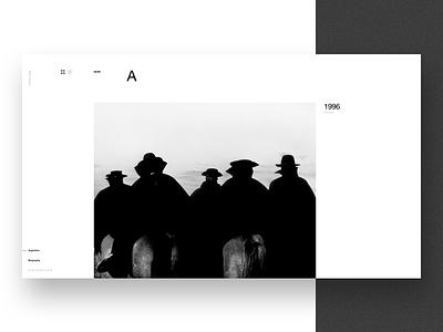 Aldo Sessa - Album 2 (concept) landing page ui helvetica concept web design photography swiss minimal typography ux layout