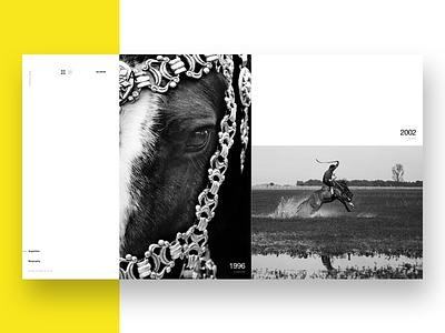 Aldo Sessa - Album 3 (concept) layout ux typography minimal swiss photography web design concept helvetica ui landing page