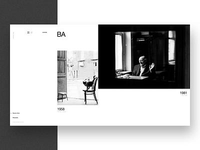 Aldo Sessa - Album 7 (concept) landing page ui helvetica concept web design photography swiss minimal typography ux layout