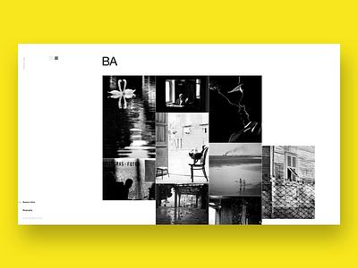 Aldo Sessa - Album 8 (concept) landing page ui helvetica concept web design photography swiss minimal typography ux layout