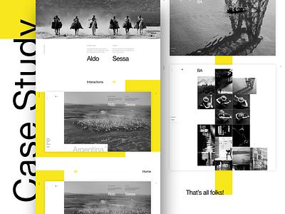 Aldo Sessa - Case study (concept) landing page ui helvetica concept web design swiss minimal typography ux layout photography