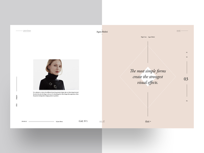 Agata Bieleń — Upcoming Freebie — 3 fibonacci template graphic design typography golden ratio grid layout freebie garamond fashion magazine