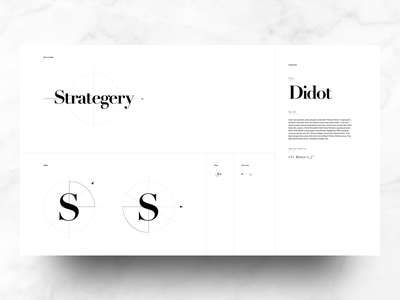 Strategery - Identity Manual development agency fashion bodoni elegant layout grid golden ratio typography graphic design system brand