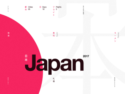 Japan 2017 japanese helvetica tribute japan clean swiss minimal typography graphic design layout