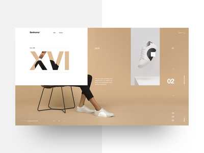 Senhoma 10 helvetica landing interaction minimal interface layout template concept mondrianizm lookbook fashion ecommerce