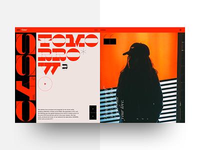 Cass - Landing concept sketchapp brutalist brutalism display typeface ogg maelstrom musician web design concept clean landing ui typography layout
