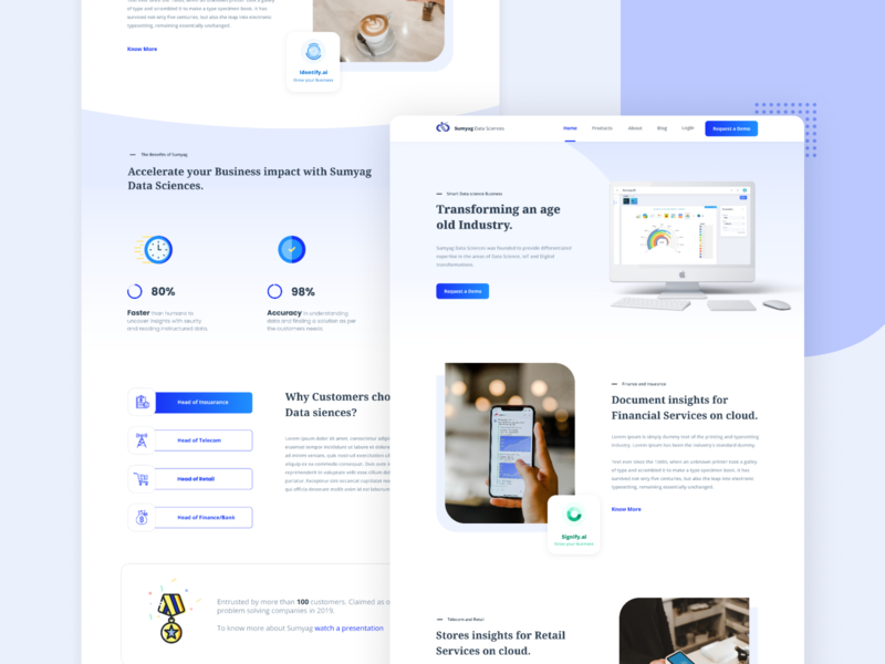 Website Design (Sumyag Datasciences) flat web icon typography logo webdesign ux ui figmadesign design