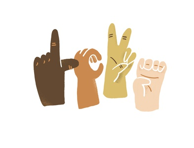 Love is for EVERYONE justice community hope love thy neighbor illustration hands sign language love is love inclusivity love black lives matter