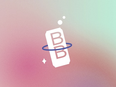 Best Bev Icon beverages beverage bold gradient mid century modern modern future futuristic sky planet space branding outer space space cosmic brand designer brand design branding