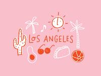 LA Postcard Doodles