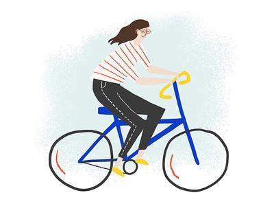 Hey ma, it's me on a bike!