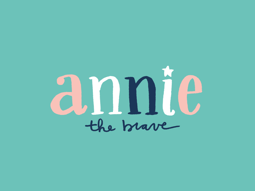 Annie the Brave hand drawn lettering hand done type typography boutique kids clothing childrens brand childrens clothing branding logo design logo