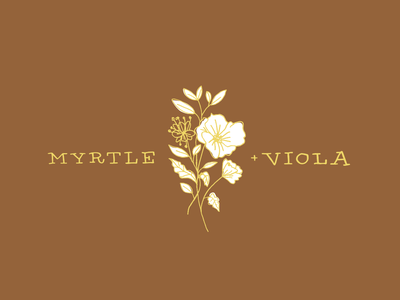 Myrtle & Violo Logo floral design lifestyle brand floral logo hand drawn typography typography illustration designer design branding brand lifestyle flora floral art floral logo design logo