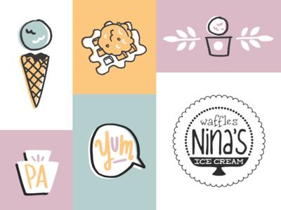 Nina's Waffles Illustrations