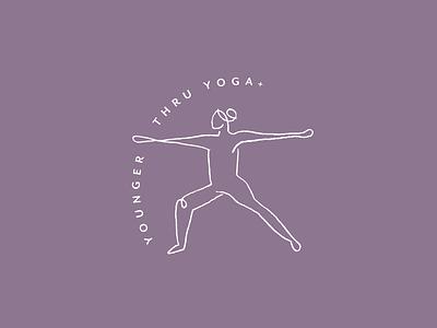 Yoga Logo logo 2d design line illustration line art healthy lifestyle woman yoga illustration line drawing illustration branded brand design yoga yogi branding logo design logo