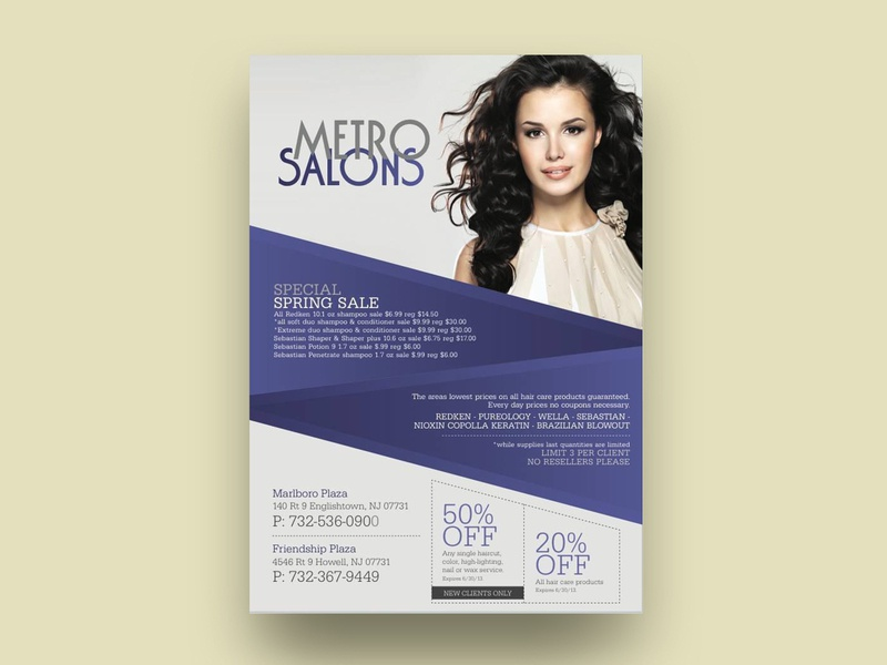salon flyer design branding