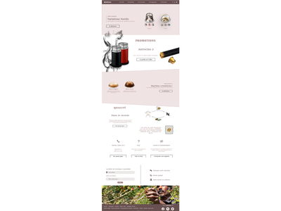Remake Nespresso website @project @school @ux @ui @design