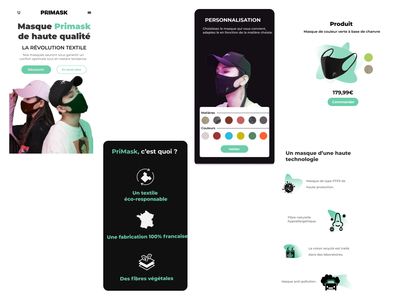 PriMask SCHOOL PROJECT (mobile) @style @ecology @actuality @personalization @mask @coronavirus @mobile @ux @ui @colors @design
