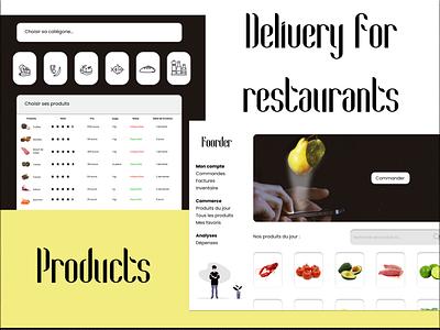 Dashboards Foorder @dashboard @restaurant @blackandwhite @simple @ui @ux @daily-ui @design