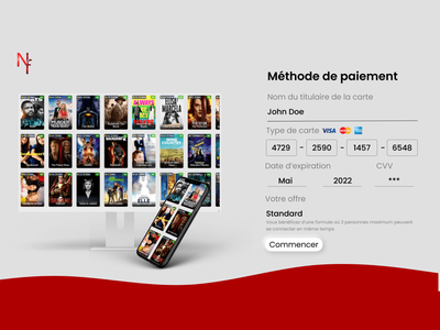 Credit Card Checkout - Remake Netflix ux design dailyui dailyux webdesign payment colors ui