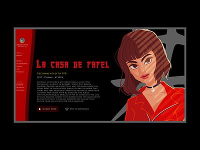 Manga streaming - Casa de Papel daily-ui colors red uxui ux streaming casadepapel tokyo manga design