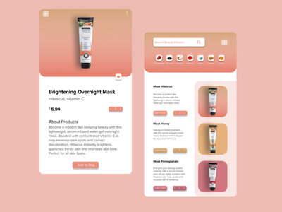 Mobile app - cosmetics ui dailyui mobile webdesign branding pink colors design cosmetics