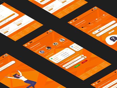 Remake of EasyJet design ux ui colors orange remake easyjet mobile process